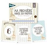 """Milestone Erinnerungskarten """"Mein erstes Jahr"""", Sophie die Giraffe, Papier (in französischer Sprache)"""