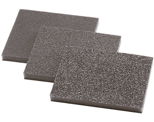 Wolfcraft 2895000 2895000-3 esponjas abrasivas, Grano 60,120,180, Set de 3 Piezas