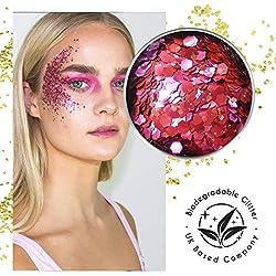 Ecostardust Flamingo biodegradabile glitter ✶ festival Bioglitter cosmetici viso corpo capelli unghie