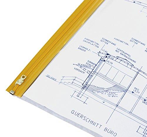 HELE Planschutztasche das Original, 10 Stück DIN A2-440x620 mm - Klarsichthülle A2