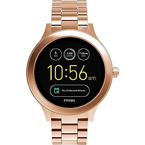 Fossil q Damen-Armbanduhr Analog One Size, rosé