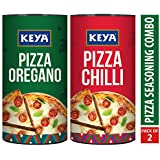 Keya Pizza Seasoning Combo Pack of Italian Pizza Oregano (80G) and Italian Pizza Chilli (70G) …