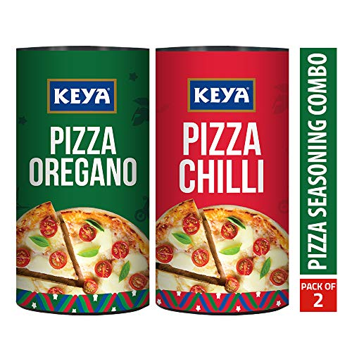 Keya Pizza Seasoning Combo Pack of Italian Pizza Oregano (80G) and Italian Pizza Chilli (70G) ...