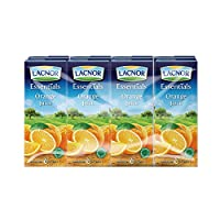 ‏‪Lacnor Essentials Orange Juice - 180 ml x 8‬‏