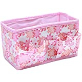 Dresser Drawer Organizer Changing Table Organizer - Make Up Organizer Folding Desktop Dressing Jewelry Storage Box Small Bag Makeup Basket 181010cm - Baskets For Shelves (Pink)