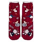 YWLINK Niedlich Damen Weihnachtsmann Rudolf Drucken Frauen Winter Baumwollsocken Mehrfarbig Geschenk 1 Paare Schlafsocken