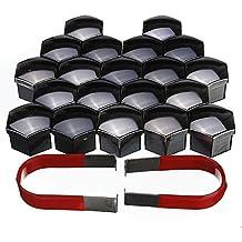 YONGYAO Conjunto De 20 Piezas 17Mm Coche Plástico Tapas Tornillos Cubre Tuercas Aleación Rueda-Negro