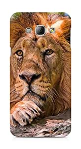 Amez designer printed 3d premium high quality back case cover for Samsung Galaxy A8 (Ferocious lion)