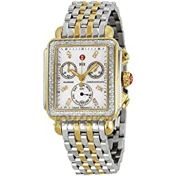 Michele Michele firma Deco Cronógrafo Diamante Madre de Perla Dial Damas Reloj