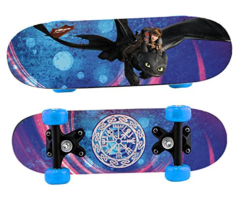 Joy Toy 76062 Dragons Mini Skateboard aus Holz, dunkelblau