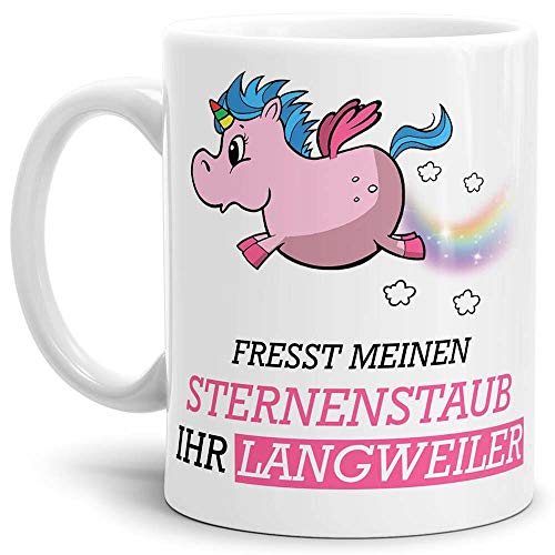 Tassendruck Unicorn/Einhorn/Tasse mit Spruch - Kaffeetasse Mug Cup Sternenstaub - Qualität Made in...