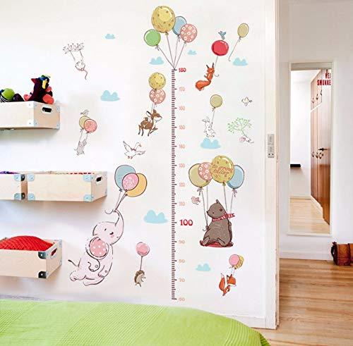 Xzfddn Cartoon Tier Ballon Höhe Aufkleber Kinderzimmer Kindergarten Klassenzimmer Höhe Wand Aufkleber Wand-Dekor