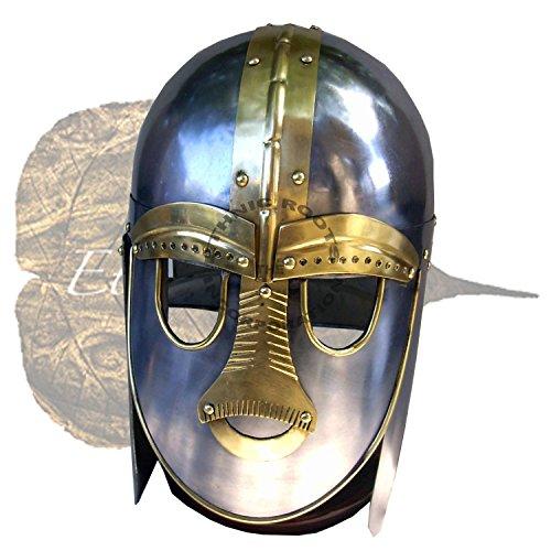 chsische Helm–Reenactment/Larp/Rollenspiel oder Mottoparties + Gratis Helm Ständer (Suttons Kostüme)