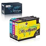 OfficeWorld Ersatz für HP 933 Patronen 933XL Druckerfarbe Hohe Kapazität Kompatibel für HP Officejet 6100 6600 6700 7110 7610 7612 [Bitte beachten Sie 7510 7512 kann nicht verwendet werden]