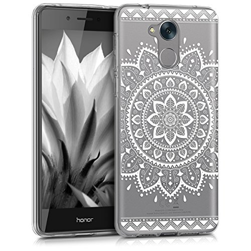 kwmobile Huawei Honor 6C Hülle - Handyhülle für Huawei Honor 6C - Handy Case in Weiß Transparent