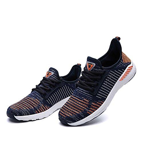 Xiduoduo Unisex Mesh Traspirante Maglie Scarpe Casual Scarpe Sportive Ultra-leggere Scarpe Da Corsa 36-48 Arancio