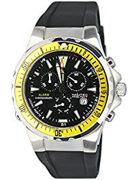 Nautec No Limit Herren-Armbanduhr XL Betta Chronograph Quarz Kautschuk BT QZ-ALA/RBSTYLBK