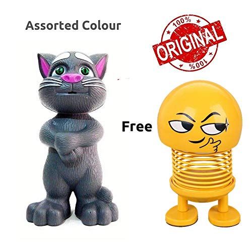 EITHEO Talking Tom Toy for Kids Speaking Intelligent Touching and Mimicry Talking Tom Cat with Wonderful Voice(Grey)
