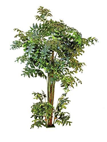 artplants Set 'Künstlicher Fishtailbaum + Gratis UV Schutz Spray' - Kunstpalme Fischschwanzpalme KAIKO, grün, 305 cm