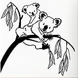 Arbre Stickers Muraux Mignon Koala Autocollant Mural Pour Chambre Cartoon Infirmière Bébé Chambre Vinyle Décor Decal Amovible Art Mural 56X58CM