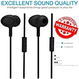 High Bass Wired Earphone With Mic Compatible For Lenovo K6,K6 Note,K8 Note,K8 Plus,K4 Note, Lenovo K6 Power,A6600 Plus And Lenovo Vibe P1 (Black)
