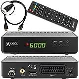 Anadol HD 202C Digital Full HD Receptor de televisión por cable (HDTV, DVB-C/C2, HDMI, SCART, reproductor multimedia, USB 2.0, 1080p) [Instalación automática]–Negro