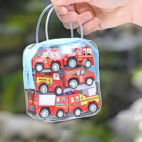 Kinder Erwachsene Entwicklung Lernspielzeug Bildung Spielzeug Gute Geschenke,6pcs Verschiedene Mini Truck Spielzeug und Rennwagen Spielzeug Kit Set