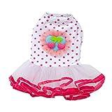 haoricu Haustierkleid, Prinzessinnenkleid für Hunde und Kleine Hunde, XL, hot pink