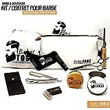 BARBER TOOLS  Kit/Set / Coffret d'entretien et de soin pour barbe et rasage.