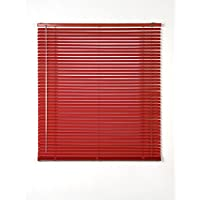 Estores Basic- Persiana Veneciana Aluminio,  Rojo, 120x175 cm