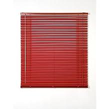 Estores Basic, persianas venecianas de aluminio, Rojo, 120x175cm, persianas venecianas, estores para ventana