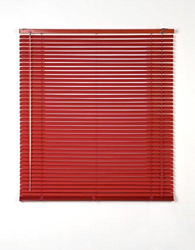 Estores Basic, persianas venecianas de aluminio, Rojo, 150x175cm, persianas venecianas, estores para ventana
