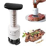 outgeek Fleischklopfer Fleisch Injektor Küche Tenderizer 3 Marinade Nadeln Injektor Tenderizer Werkzeug