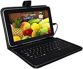 IKALL N4 (7-inch, 1 GB, 8 GB 4G + Wi-Fi Calling) Tablet with Keyboard Cover (Black)