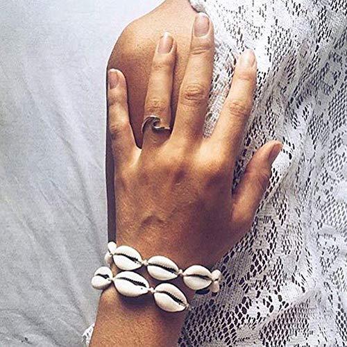 fllyingu Handgemachte Muschelkette , Armband Fußkettchen Innovativer