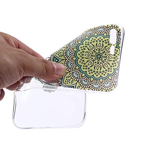 iPhone 7 Plus Coque, iPhone 7 Plus Soft TPU Housse, Cozy Hut® [Liquid Crystal] Case Coque Housse Etui Ultra Hybrid TPU Silicone,[Extrêmement Mince Souple et Flexible] [Peau Transparente] [Shock-Absorp Clochettes de fleurs de mandala