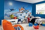 Komar - Disney - Fototapete PLANES ABOVE THE CLOUDS - 368 x 254 cm - Tapete, Wand, Dekoration, Wandbelag, Wandbild, Wanddeko, Flugzeuge, Himmel, Freunde, Dusty, Skipper, Bravo, Echo - 8-465