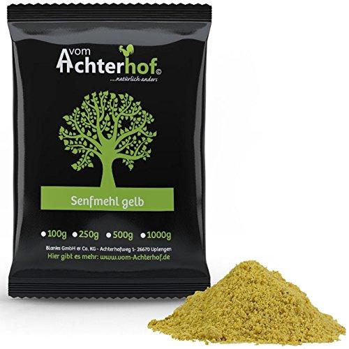 1 kg Senfmehl Senfsaat gelb gemahlen , teilentölt zur Senfherstellung (Auf Halbem Weg Punkt)