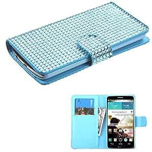 MyBat LG G3 Diamonds Book-Style MyJacket Wallet with Card Slot - Retail Packaging - Blue
