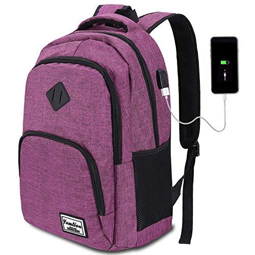 YAMTION Schulrucksack für Damen and Mädchen,Laptop Rucksack mit 15.6 Zoll Laptopfach für Schule Arbeit Reisen