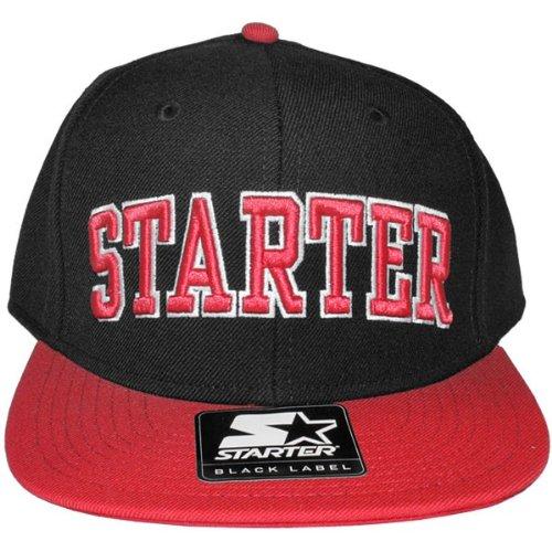 Berretto Starter College, colore: nero/rosso
