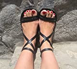 Strappy Sandals, Unisex Gladiator Leather Sandals, Roman Greek Style, Ankle Strap Handmade Sandals - EPIC