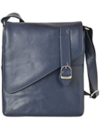 R.K. Leather Point Women's Dark Blue Synthetic Leather Sling Bag