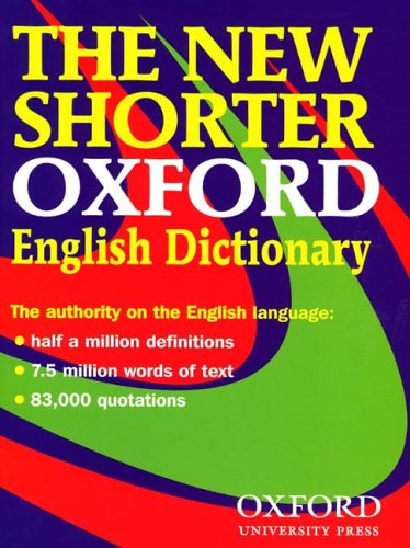 The New Shorter Oxford English Dictionary Test