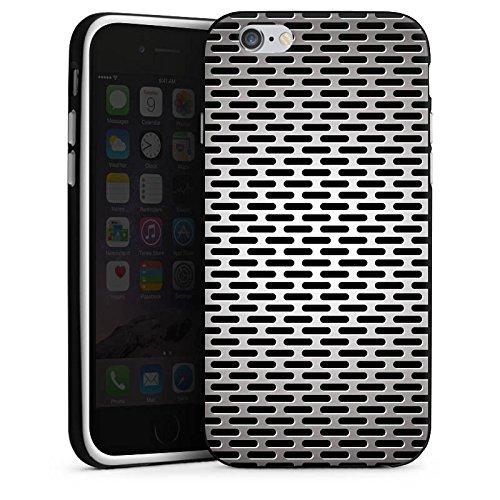 Apple iPhone 5s Housse Étui Protection Coque Tôle Metallic Look Housse en silicone noir / blanc