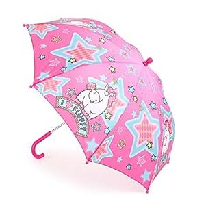 Unbekannt Mercopol Regenschirm für Kinder im rosanen Einhorn-Design und Schriftzug I Love Fluffy, handliche Größe und praktischer Klettverschluss Regeschirm, Plastik, Bunt, 68.00 x 68.00 x 58.00 cm