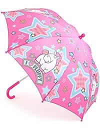 MercoPol 10683 Parapluie Licorne Fluffy, Plastique, Multicolore, 68 x 68 x 58 cm