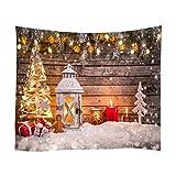 Hankyky Weihnachten Wandteppich Gedruckt Polyester Stoff Urlaub Kunst Handwerk Wandtuch für Wohnzimmer Home Schlafzimmer Wohnheim Dekor