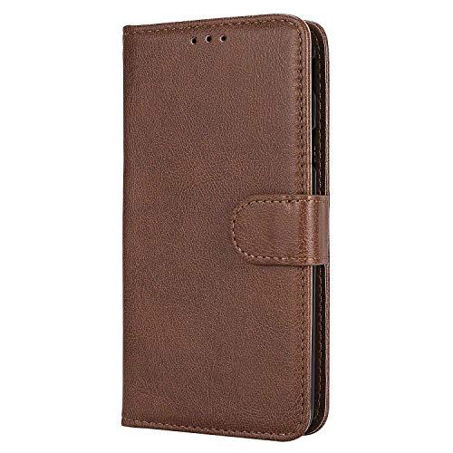Bear Village® Hülle für Samsung Galaxy J5 Prime/On 5, Flip Leder Handyhülle Tasche mit Kartensfach, TPU Innere Ledertasche, 360 Grad Voll Schutz, Braun