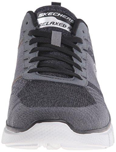 Skechers Equalizer 2.0-True Balance Breit Textile Turnschuhe Charcoal/Black